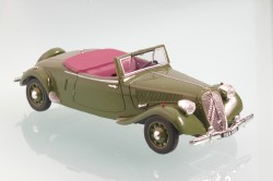 Модель 1:43 Citroen Traction 15/6 Cabrio - olive green
