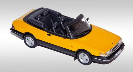 Модель 1:43 Saab 900 Turbo 16 S Cabrio - Montecarlo yellow