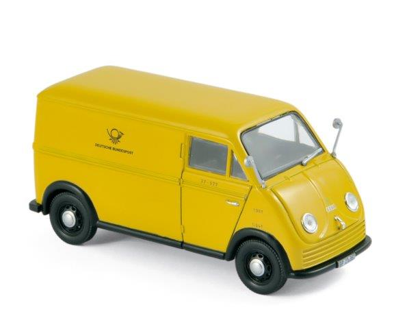 Модель 1:43 DKW F89L «Deutsche Bundespost» фургон - yellow