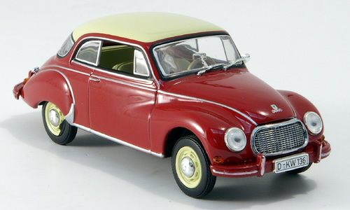 Модель 1:43 DKW 3=6 / Red Bordeaux roof Ivoire
