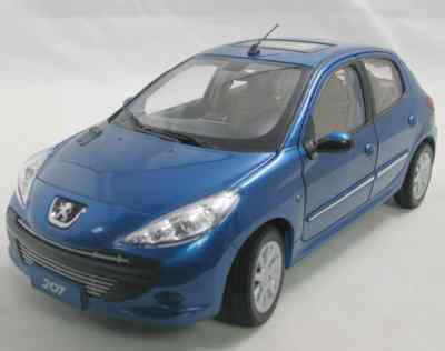 Модель 1:18 Peugeot 207 5-door (China) - blue