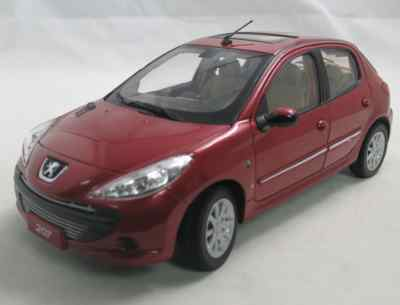 Модель 1:18 Peugeot 207 5-door (China) - red