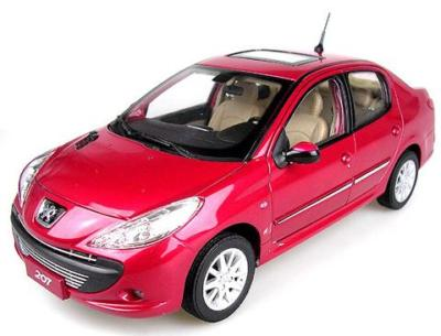 Модель 1:18 Peugeot 207 4-door (China) - red