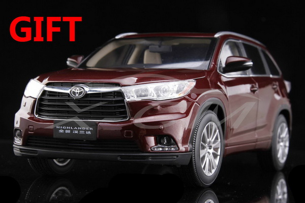 Модель 1:18 Toyota Highlander - dark red