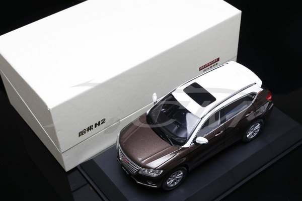Модель 1:18 Great Wall Haval H2 (Brown/White)