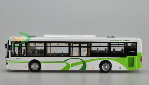 Модель 1:43 Sunwin Volvo City Bus - white/green