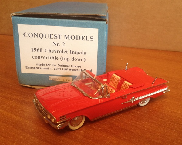 Модель 1:43 Chevrolet Impala Convertible roman-red