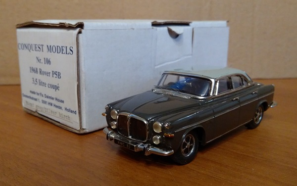 Модель 1:43 Rover P5B 3.5 litre Coupe - Silver Birch/Bordeaux Red