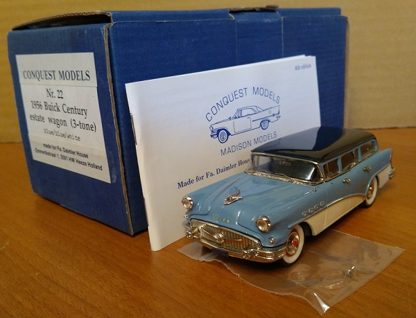 Модель 1:43 Buick Century estate wagon (3-tone) - Blue/Blue/White