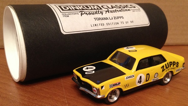 Модель 1:43 Holden Torana LJ GTR XU-1 №4D ZUPPS (Dick Johnson) (L.E.73 of 99pcs)