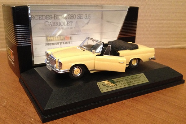 Модель 1:43 Mercedes-Benz 280 SE 3.5 Cabriolet - yellow
