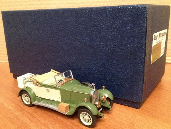 Модель 1:43 Rolls-Royce 20hp bodywork by Harrison 3/4 drophead coupe Ch.№GRJ47 - Lincoln green/Sahara Dusk (L.E.37 of 50pcs)