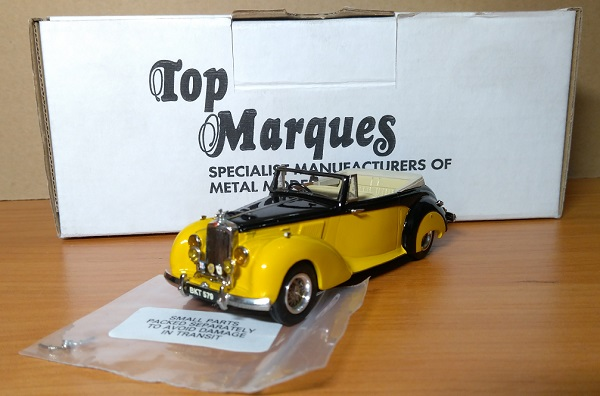 Модель 1:43 Alvis TC 21/100 Grey Lady Drophead (open) - yellow/black (L.E.250pcs)