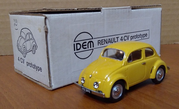 Модель 1:43 Renault 4CV Prototype 1942 - Light yellow