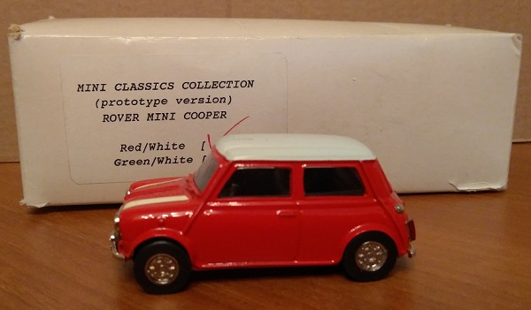 Модель 1:43 Rover Mini Cooper prototype red/white