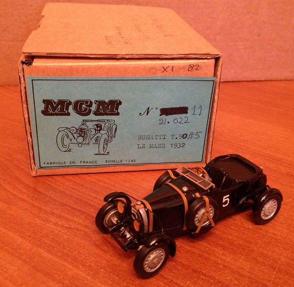 Модель 1:43 Bugatti T 50 №5 Le Mans 1931 (black; Miles Coverdale Collection)