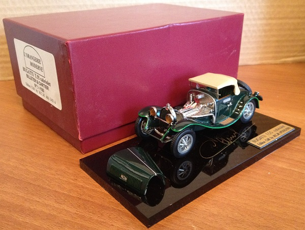 Модель 1:43 Bugatti T 55 Cabrio Billeter & Cartier - green (L.E.90 of 100pcs)