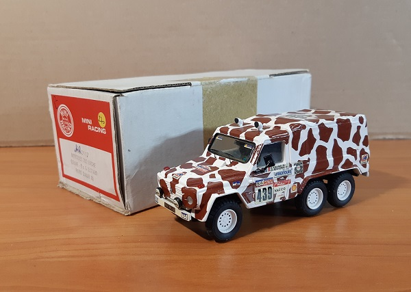 Модель 1:43 Mercedes 280 bache Girafe 6x6 Leotard Paris Dakar 85