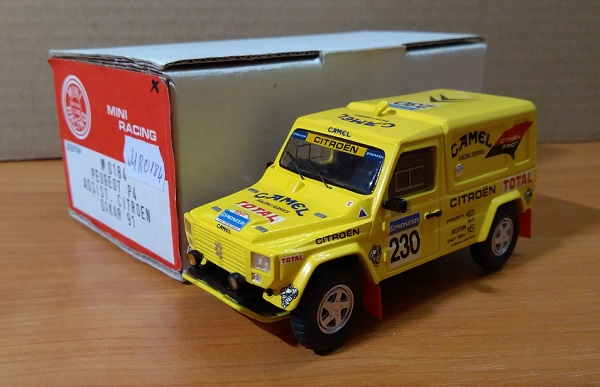 Модель 1:43 Peugeot P4 ASSIST. Citroen DAKAR 91
