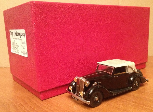 Модель 1:43 Daimler 2 1/2 Litre DropHead Coupe 1939 King George VI's Private Car -WW II (L.E 65 of 300 pcs)