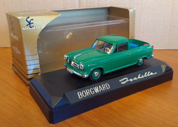 Модель 1:43 Borgward Isabella Pick-Up Green