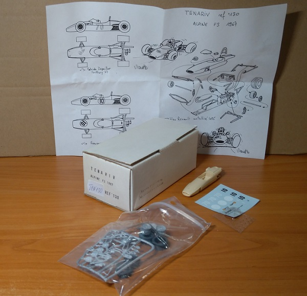 Модель 1:43 Alpine F3 1967 (KIT)