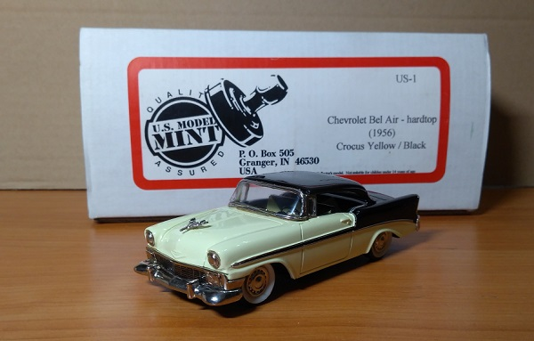Модель 1:43 Chevrolet Bel Air - hardtop Crocus Yellow/Black