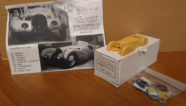 Модель 1:43 Bugatti 57S Roadster Jean (kit)
