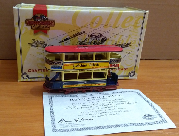 Модель 1:87 PRESTON TRAM CAR - BRIMINGHAM ENGLAND
