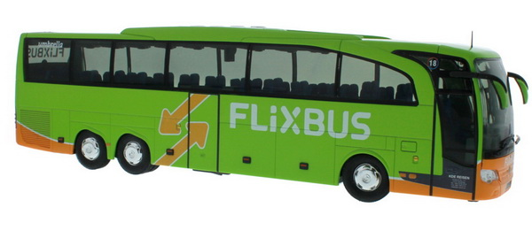 Модель 1:43 Mercedes-Benz Travego M «Flixbus» - green
