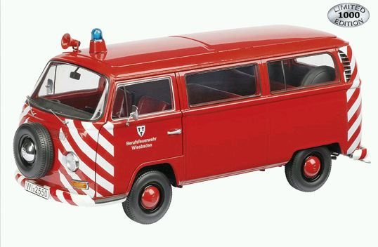 Модель 1:18 Volkswagen T2a fire brigade city of Wiesbaden