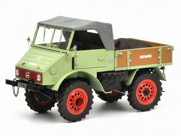 Модель 1:18 Mercedes-Benz Unimog 401 RickUp Soft-Top - WITH BOAR