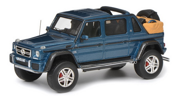 Модель 1:18 Mercedes-Maybach G650 Landaulet - dark blue
