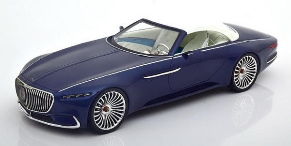 Модель 1:18 Mercedes Maybach 6 Vision Cabrio (closed) 2018 - blue met.