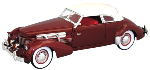 Модель 1:18 Cord 812 Supercharged - burgundy with white roof