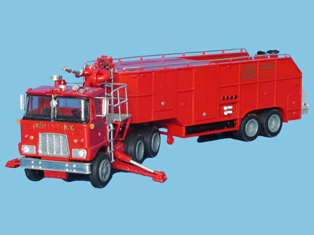 Модель 1:48 Mack Super Pumper Hose Tender Tractor & Super Pumper Hose Pipe Artic