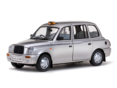 Модель 1:18 TX1 LONDON TAXI CAB, slver 1998
