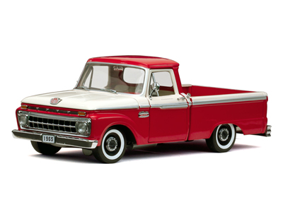 Модель 1:18 Ford F100 Pickup Custom CAB - Rangoon Red/Wimbledon White