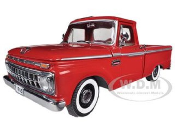 Модель 1:18 Ford F-100 Custom Cab 1965 rot Pickup
