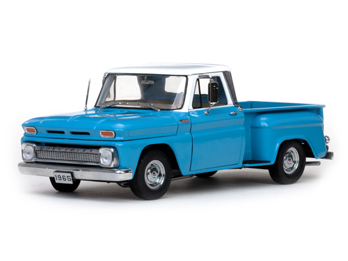 Модель 1:18 Chevrolet C-10 STEPSIDE Pickup - Ivory/Light Blue