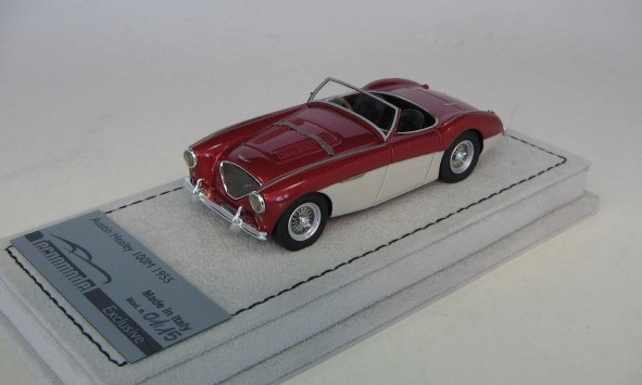 Модель 1:43 Austin Healey 100M Spider - bordeaux met/white (L.E.15pcs)