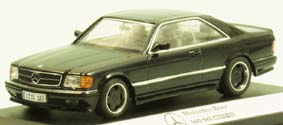 Модель 1:43 Mercedes-Benz 560 SEC (W126) AMG Coupe - black