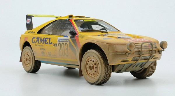 Модель 1:18 Peugeot 405 Turbo 16 №203 Winner Rally Paris Dakar dirty version (Ari Vatanen - Bruno Berglund) (L.E.100pcs)