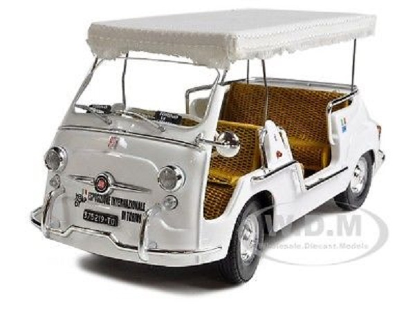 Модель 1:18 FIAT 600D Multipla Open Taxi - white