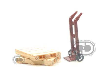 Модель 1:24 Hand Truck - Pallets Accessory Set Cars