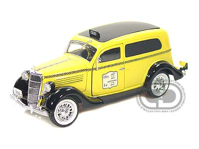 Модель 1:24 Ford Sedan Delivery Taxi Cab - yellow