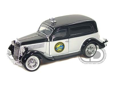 Модель 1:24 Ford Sedan Delivery Kentucky Police Department ВLack - White