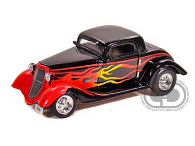 Модель 1:24 Ford 3 Window Coupe - Black w/Flames