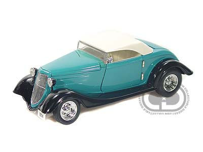 Модель 1:24 Ford Convertible Peacock Blue