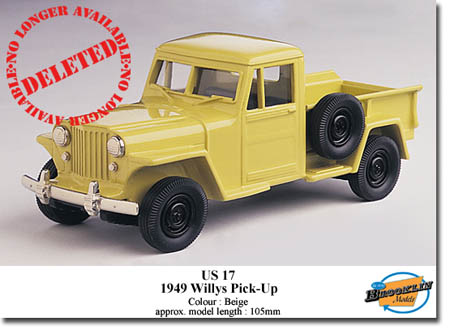 Модель 1:43 Willys PICK-UP - beige